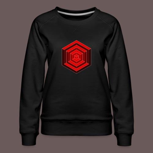 Hexagon Cube - Dame premium sweatshirt