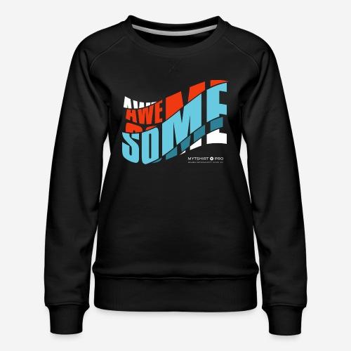 fantastische T-Shirt Design Diagonale - Frauen Premium Pullover