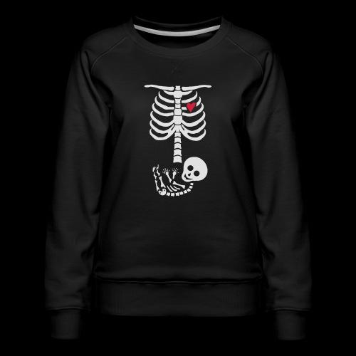 Baby Skelett Schwangerschafts Shirt - Frauen Premium Pullover