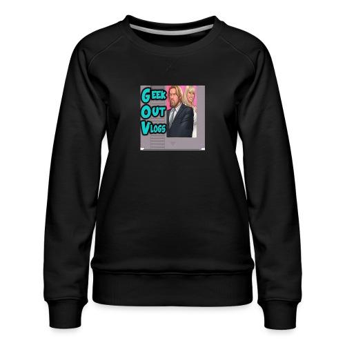 GeekOut Vlogs NES logo - Women's Premium Sweatshirt
