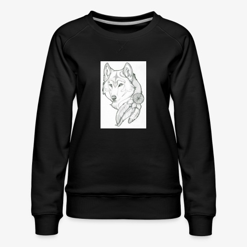 wolf - Vrouwen premium sweater