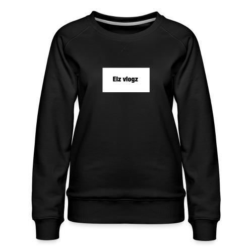 Elz vlogz merch - Women's Premium Sweatshirt