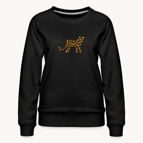 Wildkatze - Fell-Optik - Frauen Premium Pullover