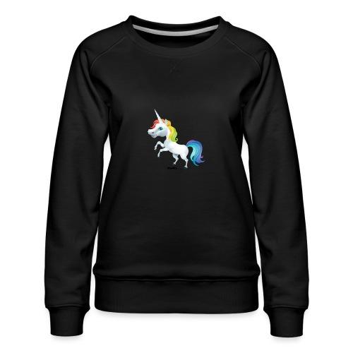 Regenbogen-Einhorn - Frauen Premium Pullover