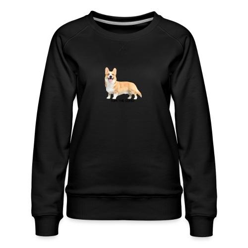Topi the Corgi - Black text - Women's Premium Sweatshirt