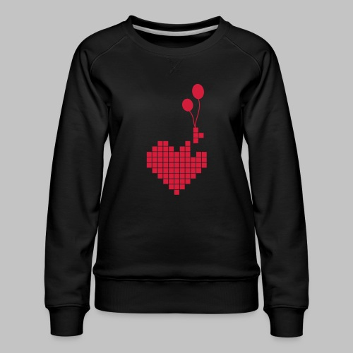 heart and balloons - Women's Premium Sweatshirt