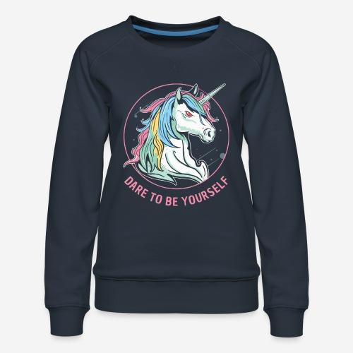 Einhorn wagen Utopie - Frauen Premium Pullover