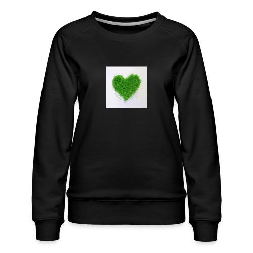 Herzrasen Button - Frauen Premium Pullover