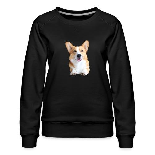 Topi the Corgi - Frontview - Women's Premium Sweatshirt