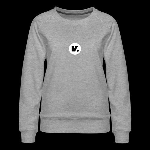 Ventura Black V Logo - Vrouwen premium sweater