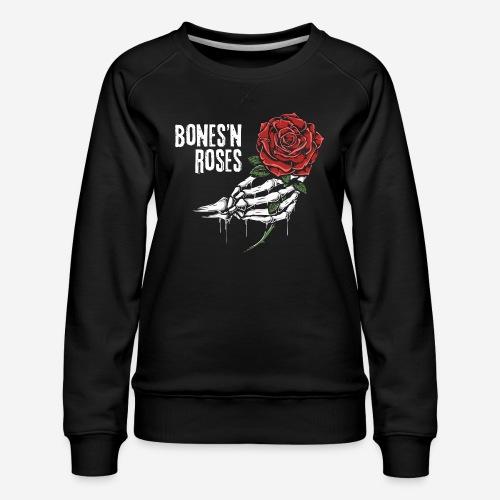Schädelknochen Rosen - Frauen Premium Pullover