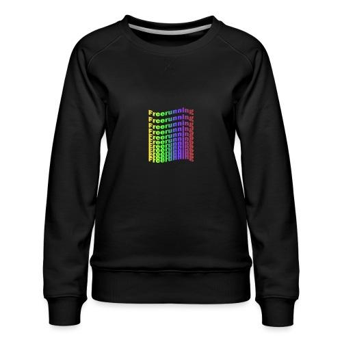 Freerunning Rainbow - Dame premium sweatshirt
