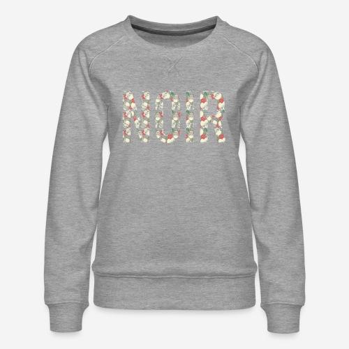 noir dunkelschwarz - Frauen Premium Pullover