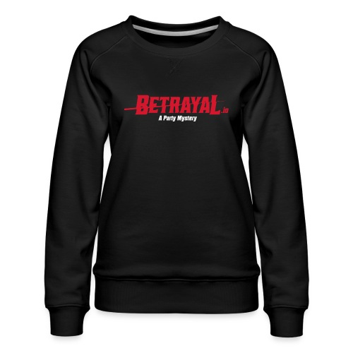 00419 Betrayal logo blanco - Sudadera premium para mujer