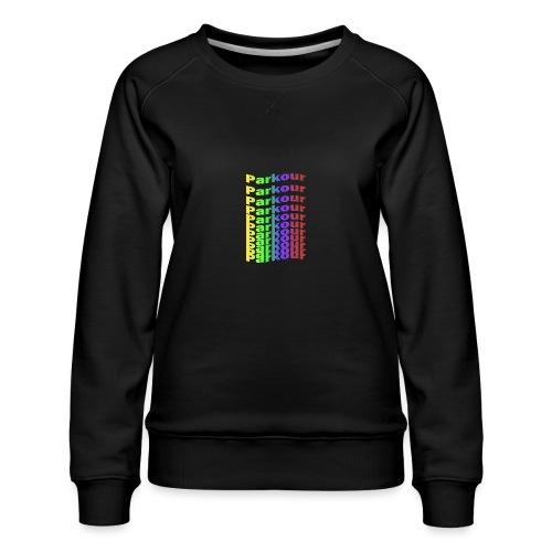 Parkour rainbow - Dame premium sweatshirt