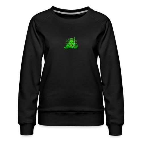 GFSkullOnlyColorShirt - Women's Premium Sweatshirt