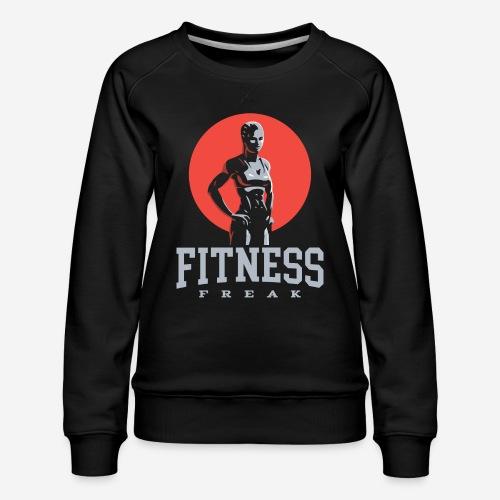 fitness freak gym - Frauen Premium Pullover