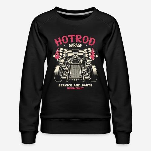 hotrod vintage cars - Frauen Premium Pullover