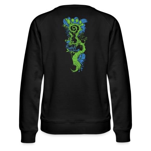 Parvati FootMoss logo in blue & green - Women's Premium Sweatshirt