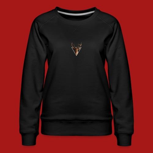 Deer-Head GOLD - Dame premium sweatshirt