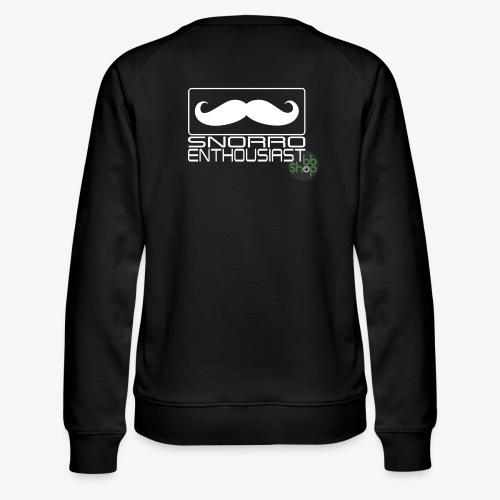 Snorro enthusiastic (white) - Women's Premium Sweatshirt