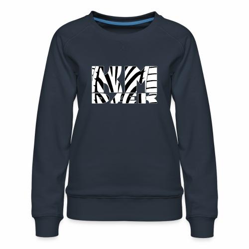KM_white - Dame premium sweatshirt