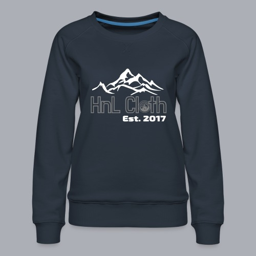 HandL Denim mountain N°2 - Sweat ras-du-cou Premium Femme