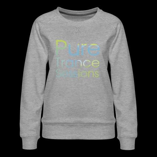 PureTrance100 transparantGROOT kopie png - Women's Premium Sweatshirt
