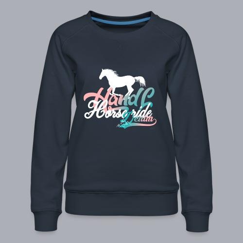 H&L Denim Horse-Ride - Sweat ras-du-cou Premium Femme