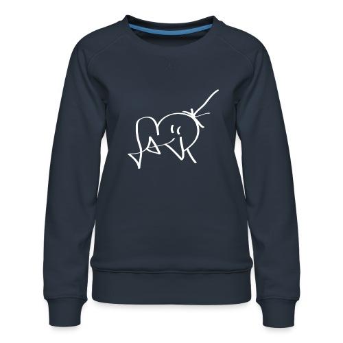 Jackjohannes Hemp signatuur 'Jack' wit - Vrouwen premium sweater