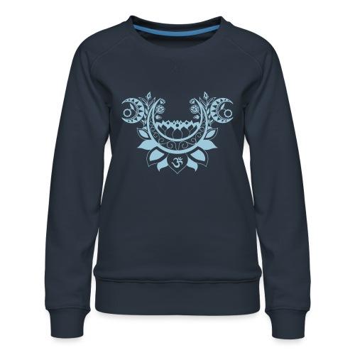 Moonlight Yoga Design Lotus Flower - Frauen Premium Pullover