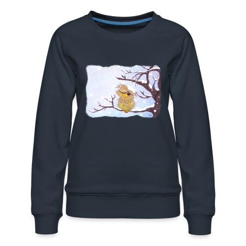 Kauz im Schnee - Frauen Premium Pullover
