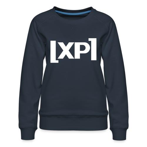 Klammelogo XP (hvid) - Dame premium sweatshirt