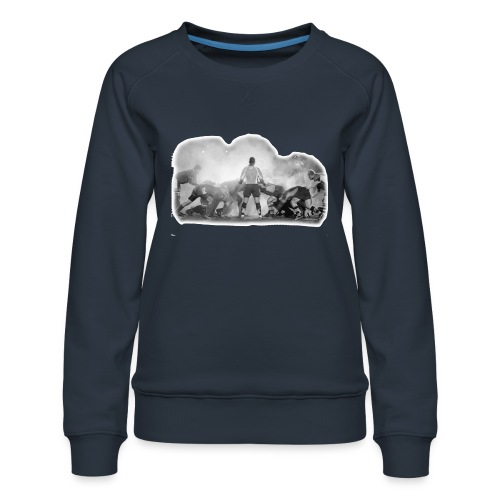 Rugby Scrum - Women's Premium Sweatshirt