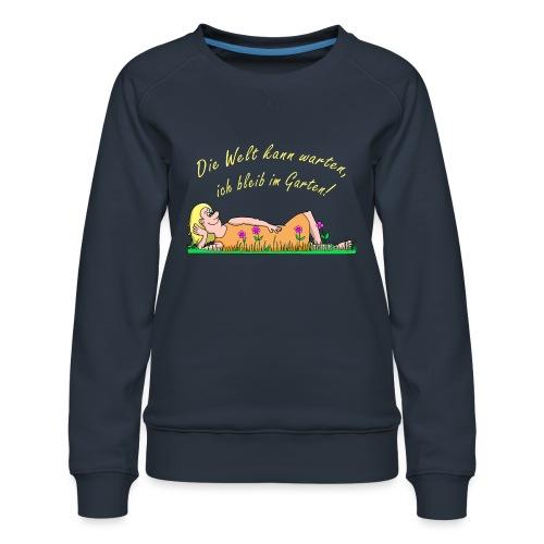 Coroanvirus im Garten - Frauen Premium Pullover