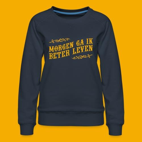 tshirt yllw 01 - Vrouwen premium sweater