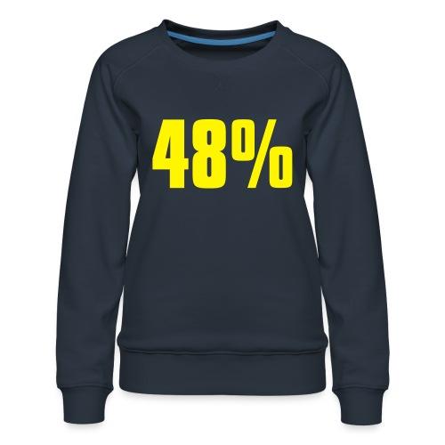 48% - Women's Premium Sweatshirt