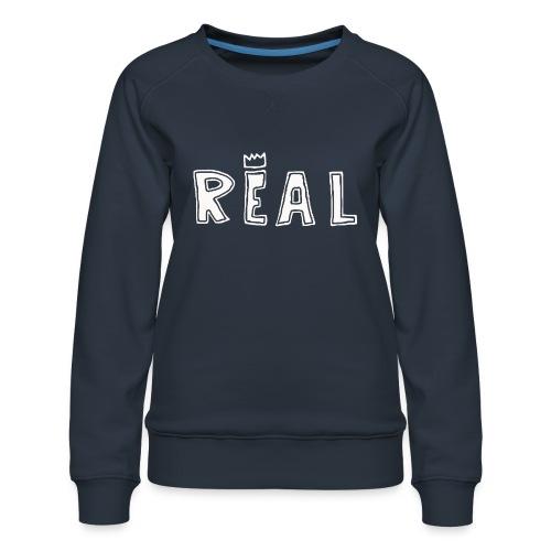 REAL (White) - Vrouwen premium sweater