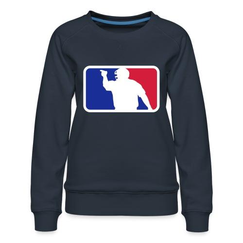Baseball Umpire Logo - Women's Premium Sweatshirt