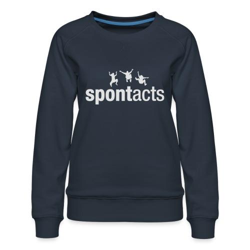 spontacts_Logo_weiss - Frauen Premium Pullover