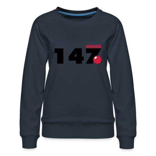 147 Snooker - Frauen Premium Pullover