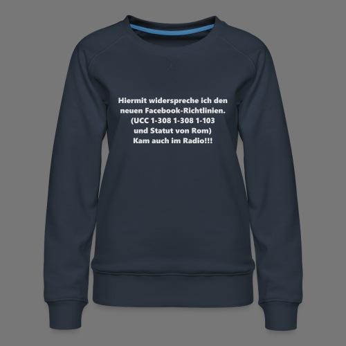 Facebook-AGB - Männer - Frauen Premium Pullover