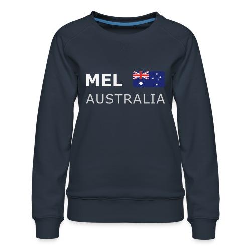 MEL AUSTRALIA white-lettered 400 dpi - Women's Premium Sweatshirt