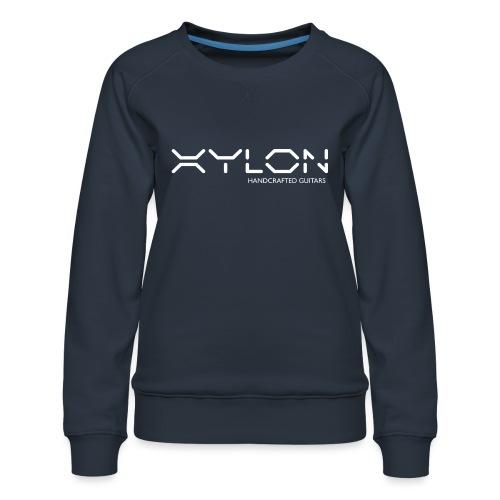 Xylon Handcrafted Guitars (name only logo white) - Women's Premium Sweatshirt
