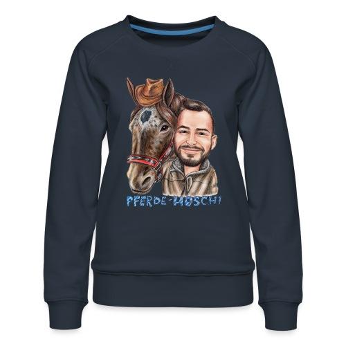 Pferde-Hoschi Kollektion hinten - Frauen Premium Pullover