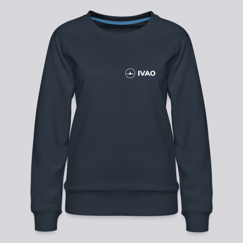 IVAO (Logo Complet Blanc) - Sweat ras-du-cou Premium Femme