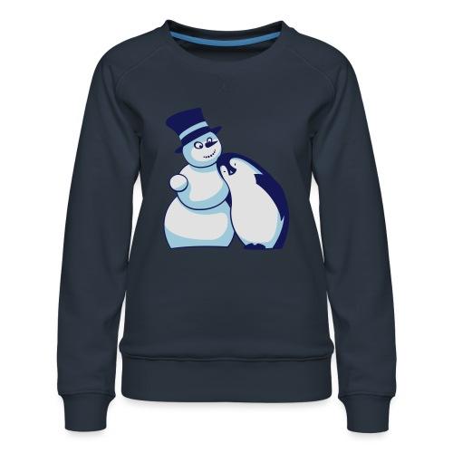 Schneemann und Pinguin - Frauen Premium Pullover