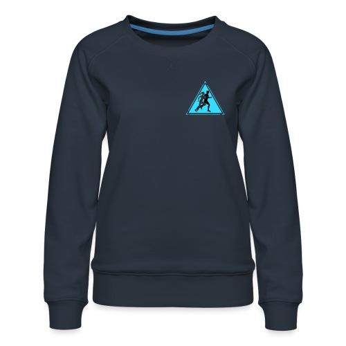 Running Man and Woman - Women's Premium Sweatshirt