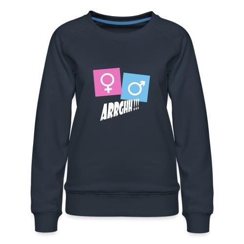 Kønsstereotyper argh - Dame premium sweatshirt