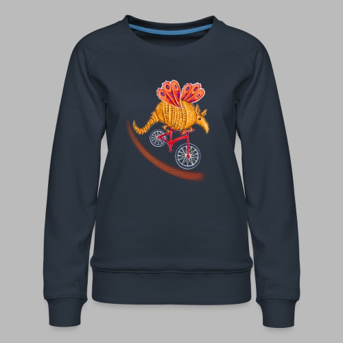 Flying Armadillo - Women's Premium Sweatshirt